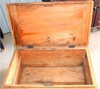 Vintage Wooden Trunk/Box (view 2)