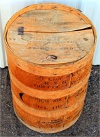Small Vintage Wood Barrel (view 1)