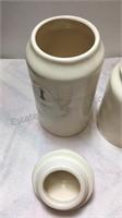 Rae Dunn 3 Ceramic Canister/Jar Set