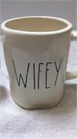 Rae Dunn Hubby & Wifey Mug Set and His/Hers