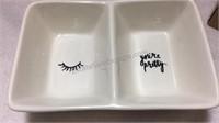 Rae Dunn Ceramic Pen/Pencil Holder Set & Tray