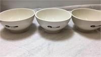 Rae Dunn Ceramic 3 Bowl Set