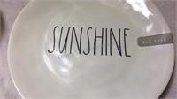 Rae Dunn Ceramic Bowl & Melamine Plate