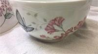 Lenox Butterfly Meadow 3 Mixing Bowls & 4 Pinch