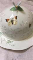 Lenox Butterfly Meadow Covered Dish/Plate &