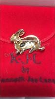 Rabbit Rhinestone Pin by KJL Kenneth Jay Lane