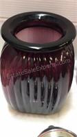 Purple Glass 3 Jar/Canister Set