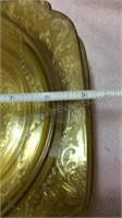 Vintage Yellow Glass - 5 Dinner Plates, 6