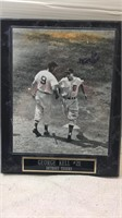 Autographed Detroit Tigers George Kell Picture
