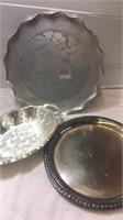 Leonars Silverplate Platter, Wildeood Lodge Plate