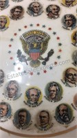 Vintage Presidents Ashtray & Trump Plaza Match