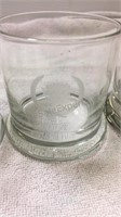 Set of 4 Vintage Cadillac Logo Glasses