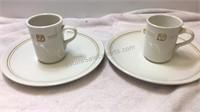 Vintage Mayer China Disney 2 Dinner Plates & Mugs
