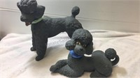 Pair of Vintage Atlantic Mold Poodle Statues
