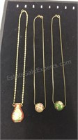 Trio of  12kt Gold Filled  Asian Inspired