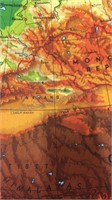 Vintage Pull-Down Classroom Map of Asia &