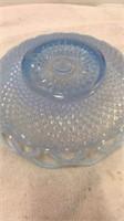 Hobnail Glass Vase and Assorted Glass Pieces