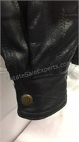 Leather Jacket with Vietnam Veterans Patch  -