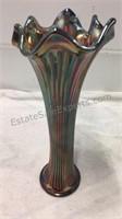 Carnival Glass Vase & Large Decorative Vase