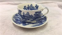 Nasco Lakeview Handpainted Tea Cup & Saucer Set