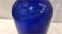 Ferolito Vultaggio & Sons Blue Glass Bottle &