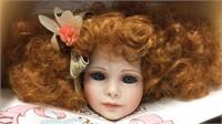 World Galleries Amanda Porcelain Doll