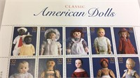 Classic American Dolls Stamp Sheet