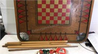 Vintage Carrom Dual Sided Game Table 28 1/2x 28