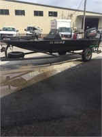1995 Tracker Aluminum Flat Bottom Bass Boat