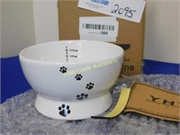 Ceramic Raised Cat Water/ Food Bowl - Holds 15