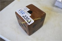 """Hand Carved Wooden Dice 4"""" Square Mango Wood -"""