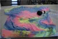 Tye Die Off Shoulder Boat Neck Shirt 2XL and
