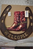 """Iron Welcome Sign approximately  24""""x24"""""""
