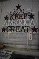 Iron yard art KEEP AMERICA GREAT  approximately