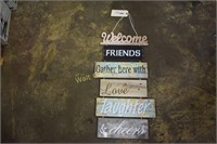 """Welcome  home decor approximately 27"""""""