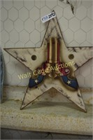 """Wooden Star wall decor approximately  19""""x19"""""""