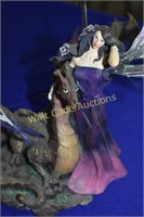 Night Fairy  with Dragon and Detachable Metal