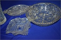 Cut Glass lot of 4 pieces as Shown in Photos
