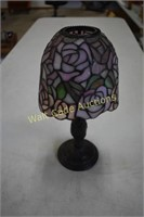 Tiffany  Candle Lamp, Cherry Blossom Glassware