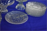 Cut Glass Serving Dishes lot of 11 pieces