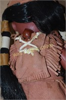 """Indian Doll Vintage approximately 11"""""""