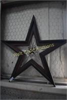 "Texas Star Wall Decor approximately 37""x39"""