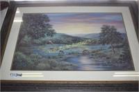 """Framed Art approximately 35""""x25"""""""