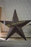 Star Wall Art lot of 2 Made of Tin and Wood