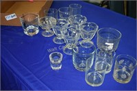 Dessert Dishes and Small Glasses lot of 15