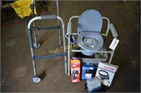 Medical Supply lot- Walker, NEW Potty Chair,