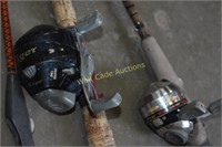 Fishing Poles Lot of 4 Poles 2 Have Reels