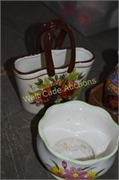 Glassware and Home decor lot of 8
