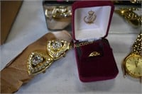Jewelry Box Mirrored with Butterfly Full of