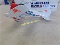 Mobilgas Vintage Airplane Coin Bank Die Cast